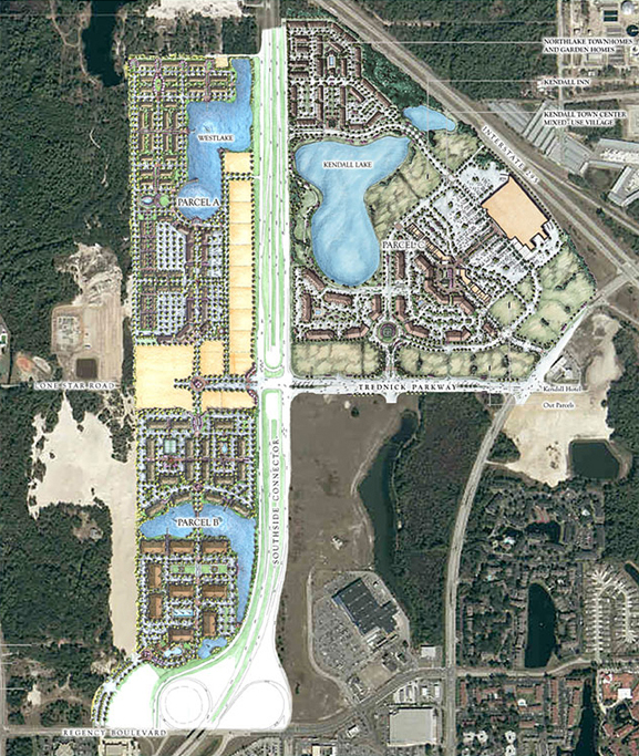 Construction Site Map: Kendall Pointe Townhomes In Jacksonville, Florida